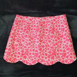 Lilly Pulitzer Scalloped Tate Skirt Fiesta Pink